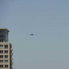 B-1B Lancer (rough way to open my eyes) (smaedli) Tags: summer urban chicago illinois day unitedstates action aircraft aviation military airshow transportation airforce b1b chicagoairwatershow panasoniclumixgh1 panasoniclumixg14140mmf458