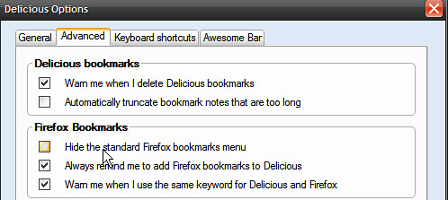 Hide the Standard Firefox bookmarks menu