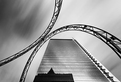 Pollux caught in chains (wecand) Tags: blackandwhite bw tower skyline architecture skyscraper twins construction long exposure frankfurt forum wolken skulptur fair exhibition ring nd architektur sw turm messe gallus glas trme hochhaus pollux ringe messeturm zwillinge langzeitbelichtung kastor konstruktion weitwinkel hochhuser messegelnde schwarzweis lzb europaviertel lichtskulptur graufilter wecand gettyimagesgermanyq1