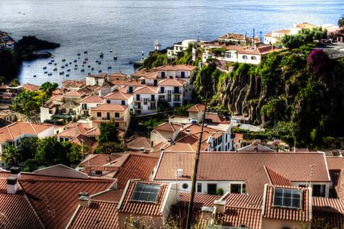 Harbour. Cámara de lobos. Madeira, Portugal. Puerto.