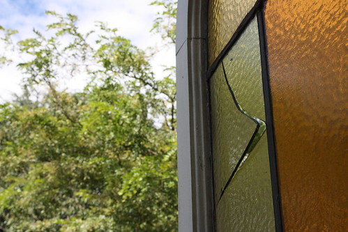Stained glass window needs repair