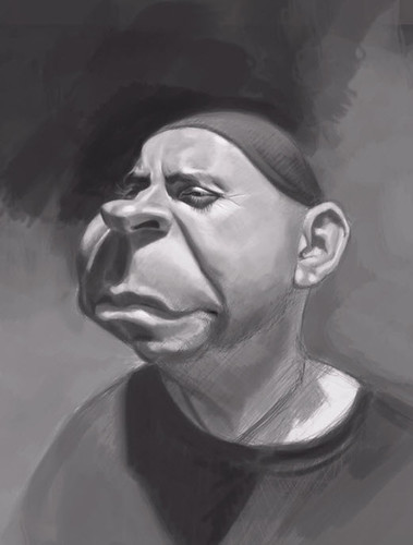 Schoolism Assignment 3 - digital painting of Gary - 1 small