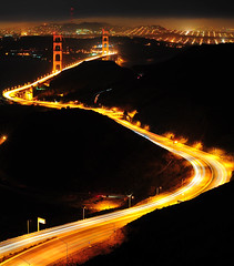 S Stands For.... (MikeBehnken) Tags: sf sanfrancisco goldengatebridge ggbridge marinheadlands highway101 lightstreams sfbridge goldengatebridgeatnight dblringexcellence