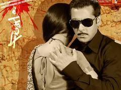 [Poster for Dabangg with Salman Khan, Sonakshi, Arbaaz Khan, Sonu Sood, Vinod Khanna, Abhinav Kashyap]