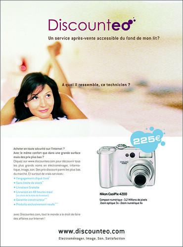 e-Mailing: picture Concept pub Discounteo - 2005 by danielbroche