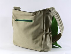 Green Grasshopper Bag Open
