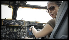 _N5_DSC0896 copy (mingthein) Tags: portrait girl museum airplane force availablelight 5 aircraft sony air helicopter malaysia kuala 1855 alpha kl ming base pilot lumpur sungai besi nex onn tudm nadiah thein photohorologer mingtheincom