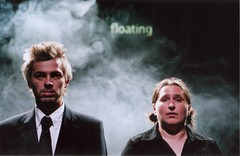 Sioned and I, Hugh Hughes, in Floating (I'm on the left)