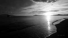 B & W sunrise 1 (Lean Ansing) Tags: sea white black beach nature fauna lumix flora philippines resort oriental mindoro calapan anahaw lx3