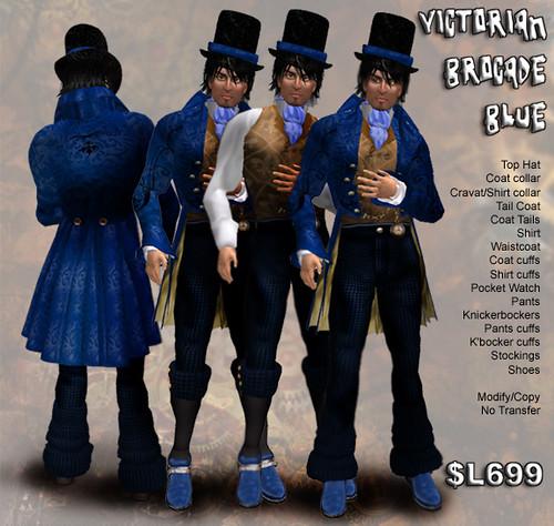 Victorian Brocade Blue