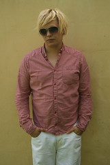 DSC02978 (Flintafus) Tags: red summer portrait white selfportrait colour sunglasses shirt trousers