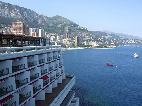exclusive hotel in Monaco at Mediterranean sea