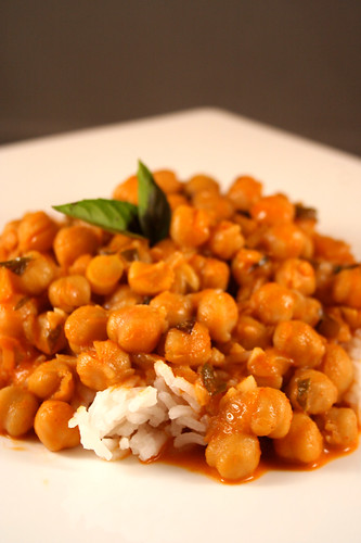 Chickpea Red Curry with Coconut Milk