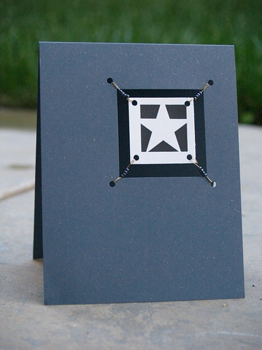 Graphic Star Suspended Card