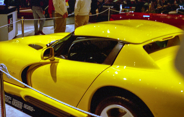 hardtop film yellow 35mm michigan detroit 1997 rt v10 naias detroitautoshow northamericaninternationalautoshow dodgeviper 4star ricohxrm privpublic