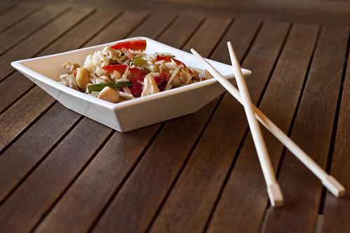 Arròs xinès amb pollastre i verdures 1