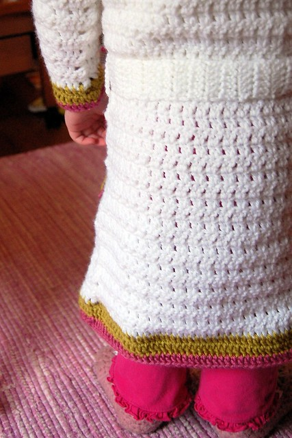 crocheted robe