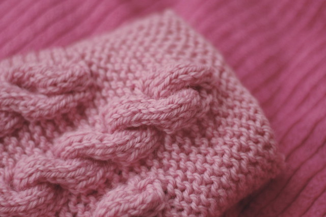 pink hot water bottle cover