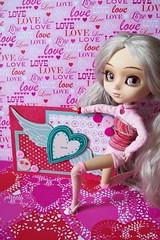 Happy Valentine's Day! (partymonstrrrr) Tags: love hearts toy toys doll dolls handmade barbie suzanne valentine card pullip noelle pullips basics mymelody coolit monsieurz zuora sq921