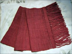 Red Marine Silk Wrap