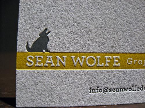 Letterpress Sean Wolfe Design Cards