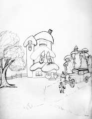 Seasons (snapscot) Tags: 1920s baby art pencil sketch child drawing father daughter drawings oldcar sketches smurfs waltons