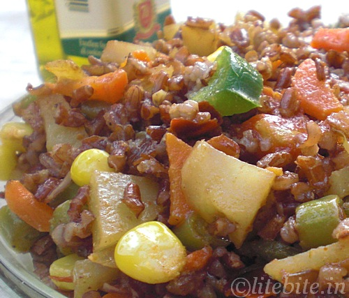 Brown Rice Paella-Indian version