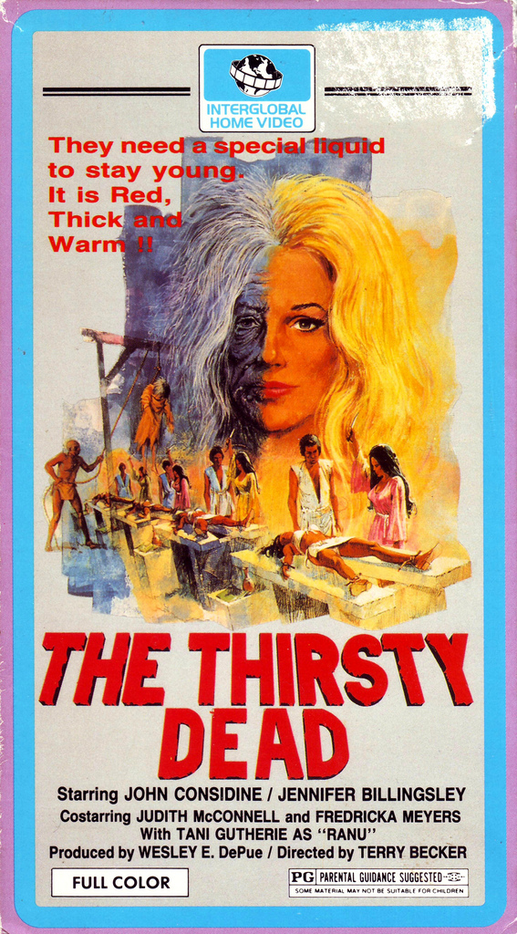 The Thirsty Dead (VHS Box Art)