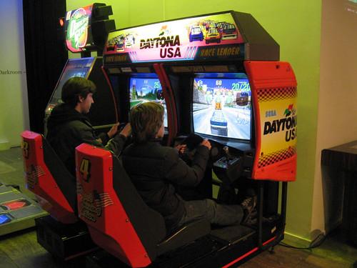 Racing arcade game