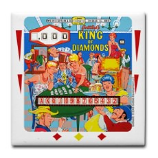 Gottlieb King of Diamonds Pinball Coaster by ArcadeNovelties.com (Arcade Novelties) Tags: pinball 1960s coaster pinballmachine gottlieb kingofdiamonds