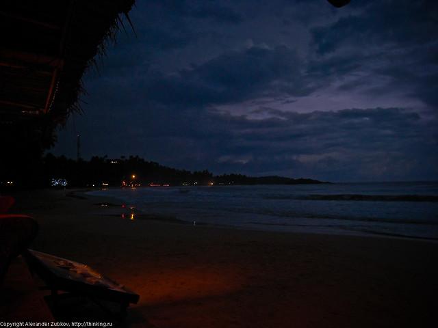Ночь на пляже