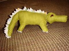 DSC07195 (spork551) Tags: dinosaur alligator stuffedanimal babytoy handmadetoy dinosaurbabytoy