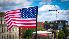 2017.07.02 Rainbow and US Flags Flying Washington, DC USA 7204