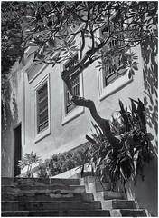 Callejón Del Hospital (Black and White Fine Art) Tags: aristaedu400 ansco6x91912 niksilverefexpro2 lightroom3 sanjuan oldsanjuan viejosanjuan puertorico bn bw