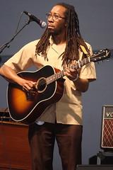 Rhiannon Giddens (2017) 11 - Hubby Jenkins (KM's Live Music shots) Tags: americana unitedstates hubbyjenkins rhiannongiddens eastmanguitar guitar neworleansjazzheritagefestival bluestent fairgroundsracecourseneworleans