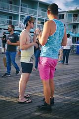DSC02052 v2 (Wheels Down) Tags: candid provincetown friends twink shorts shortshorts flipflops legs feet cute cap tanktop