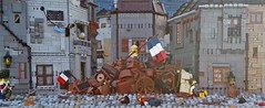 The War Between Four Walls (W. Navarre) Tags: les miserables war between four walls flag french revolution rebellion july scene alllego lego roof house