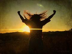 Done (MacroMarcie) Tags: selfie self hair sunset light texture sun iphone7plus iphone7