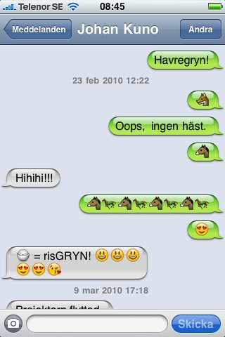 Konstig sms-konversation del 2