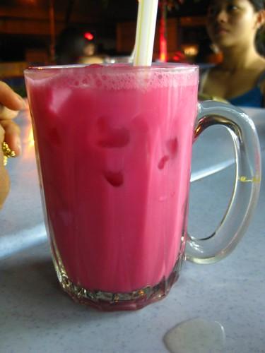 Rose syrup milk