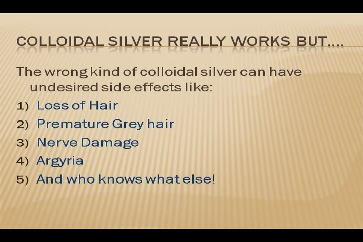 Colloidal Silver Hair LOSS Connection