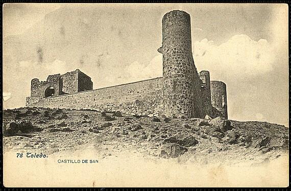 Castillo de San Servando hacia 1900. Foto Lacoste