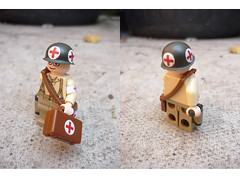 Lego US Medic (Milan CMadge) Tags: soldier army japanese us m1 wwii helmet lee imperial british ba custom beret medic decals holster enfield medikit tommie m1911 brickarms sluban mmcb