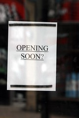 opening soon? (ludwig van standard lamp) Tags: sign funny odd zen oxford opening cowley