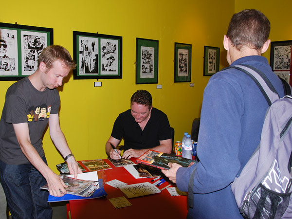 Mike Carey and Mike Perkins Signing