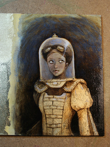 Rocketgirl - gold leaf test