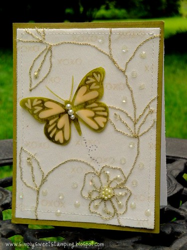 xoxo butterfly card
