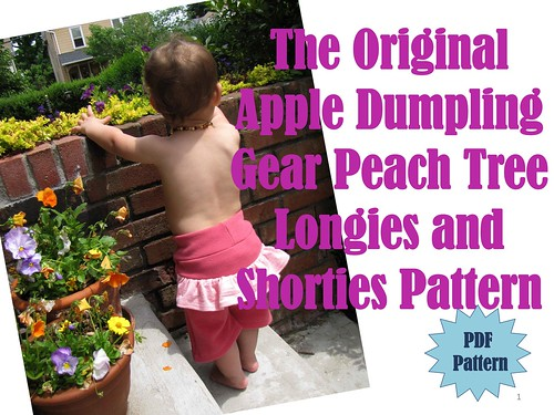 The Original Apple Dumpling Gear Peach Tree Longies and Shorties Pattern