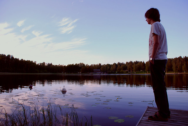 staring at the lake