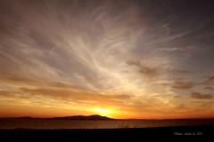 Sunset (linlaw39) Tags: sea summer sky seascape nature sunshine weather silhouette clouds landscape scotland holidays aberdeenshire cumbria setting beckfoot canoneos500d june2010 dragondaggerphoto dragondaggeraward yourwonderland linlaw39 grampianuk